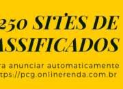 Software com 250 sites classificados grátis para você anunciar