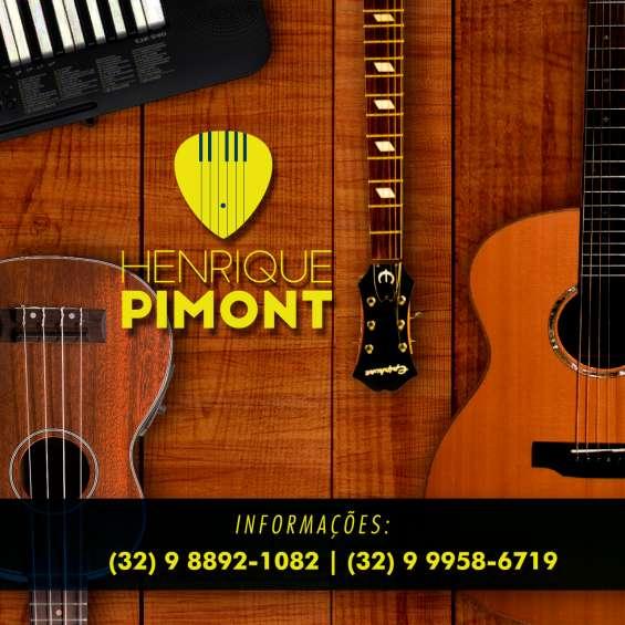 Aulas de violão guitarra baixo teclado piano cavaquinho ukulele e teoria em juiz de fora