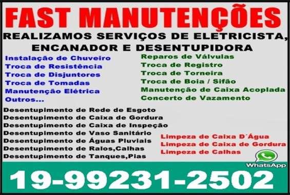 Eletricista e encanador no botafogo em campinas 19-99231-2502