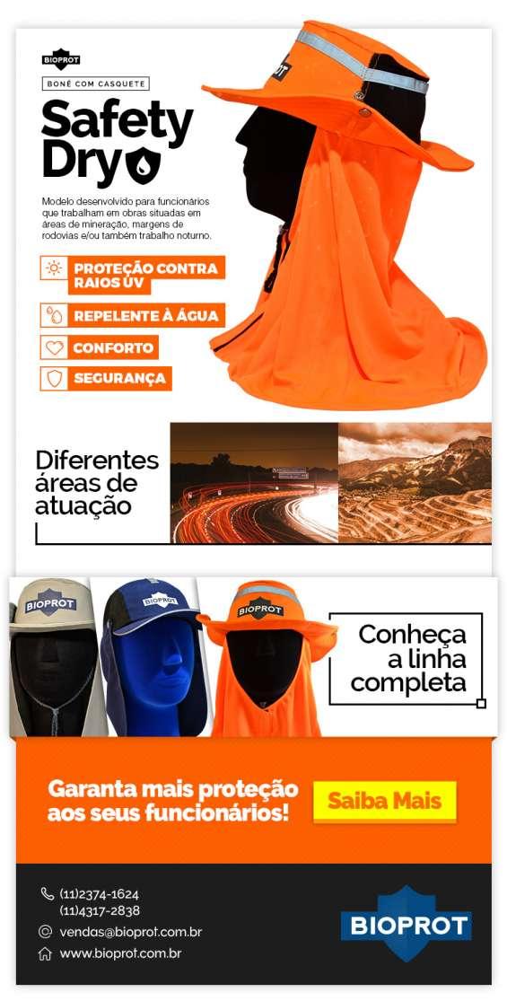 Chapéu com casquete safety dry