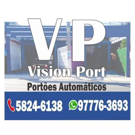 Portões automáticos em chapa de aço lambril - vision port
